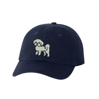 Maltese Breed  Embroidered Hat Unisex  Embroidered Hat Baseball Cap.  Adjustable With Tri-Glide Buckle. 36 Colors. VC300A - Whynotstopnshop.com