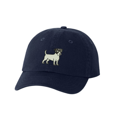Jack Russell Breed  Embroidered Hat Unisex  Embroidered Hat Baseball Cap.  Adjustable With Tri-Glide Buckle. 36 Colors. VC300A - Whynotstopnshop.com