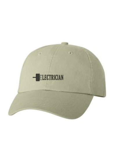Electrician Embroidered Hat Unisex.  Embroidered Hat. Baseball Cap. Adjustable With Tri-Glide Buckle. 36 Colors. VC300A - Whynotstopnshop.com