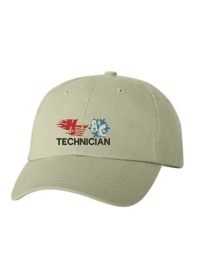 HVAC Technician Embroidered Hat Unisex.  Embroidered Hat. Baseball Cap. Adjustable With Tri-Glide Buckle. 36 Colors. VC300A - Whynotstopnshop.com