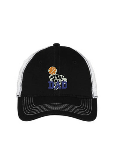 Basketball Dad Mesh Back Hat.   - Baseball Mesh Back Hat. Embroidered Basketball Dad Trucker Hat. DT607 - Whynotstopnshop.com