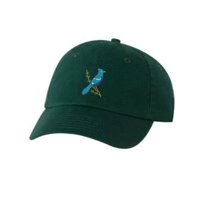 Blue Jay Bird  Embroidered Hat Unisex  Bird Watching   Embroidered Hat Baseball Cap.  Adjustable With Tri-Glide Buckle. 36 Colors VC300A - Whynotstopnshop.com