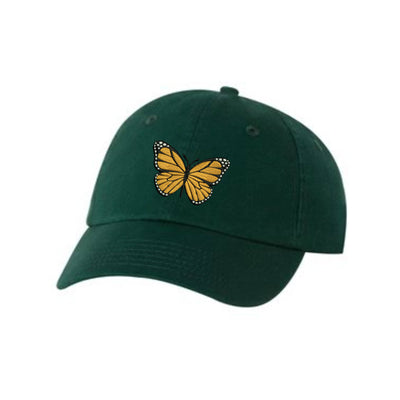 Butterfly Embroidered Hat Unisex.  Embroidered Hat Baseball Cap.  Adjustable With Tri-Glide Buckle. 36 Colors VC300A - Whynotstopnshop.com