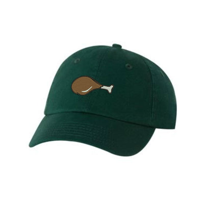 Drumstick Embroidered Hat Unisex. Food Lover Chicken Leg  Embroidered Hat Baseball Cap.  Adjustable With Tri-Glide Buckle. 36 Colors VC300A - Whynotstopnshop.com