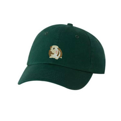 Guinea Pig Embroidered Hat Unisex. Embroidered Hat Baseball Cap.  Adjustable With Tri-Glide Buckle. 36 Colors VC300A - Whynotstopnshop.com