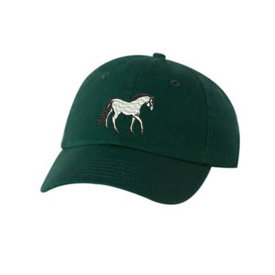 Horse  Embroidered Hat Unisex. Embroidered Hat Baseball Cap.  Adjustable With Tri-Glide Buckle. 36 Colors VC300A - Whynotstopnshop.com