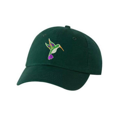 Humming Bird  Embroidered Hat Unisex. Embroidered Hat Baseball Cap.  Adjustable With Tri-Glide Buckle. 36 Colors VC300A - Whynotstopnshop.com