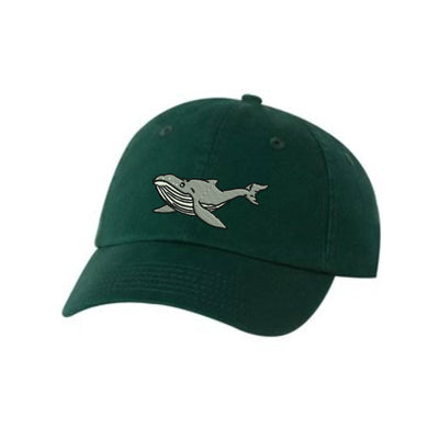 Humpback Whale   Embroidered Hat Unisex. Embroidered Hat Baseball Cap.  Adjustable With Tri-Glide Buckle. 36 Colors VC300A - Whynotstopnshop.com