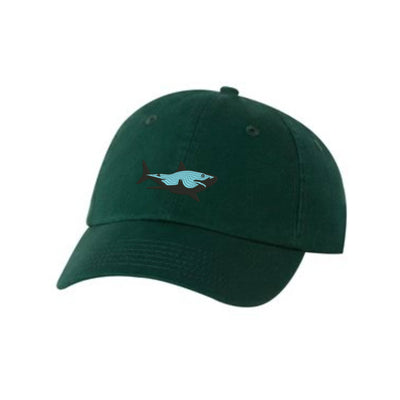 Great White Shark Embroidered Hat Unisex. Embroidered Hat Baseball Cap.  Adjustable With Tri-Glide Buckle. 36 Colors VC300A - Whynotstopnshop.com