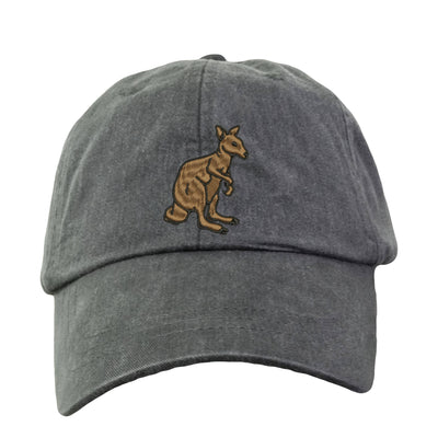 Kangaroo Hat - Embroidered. Embroidered  Hat. Adjustable Leather Strap. More Colors Avail. HER-LP101 - Whynotstopnshop.com
