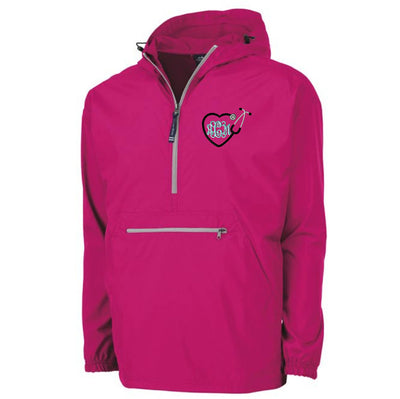 Monogram Heart Stethoscope Light Weight Pullover Monogrammed Rain Jacket Charles River Pack-N-Go Pullover. Pullover Raincoat CR: 9904 - Whynotstopnshop.com