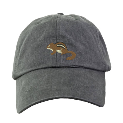 Chipmunk  Embroidered  Baseball Hat. Cool Mesh Lining & Adjustable Strap. 33 Colors Avail. HER-LP101 - Whynotstopnshop.com