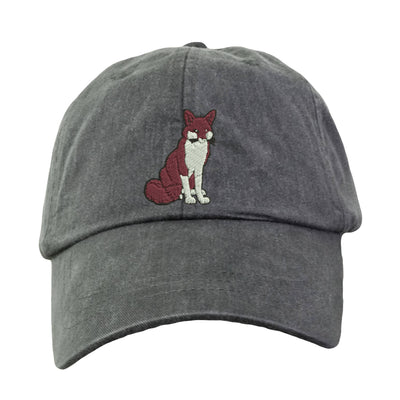 Fox  Embroidered  Baseball Hat. Cool Mesh Lining & Adjustable Strap. 33 Colors Avail. HER-LP101 - Whynotstopnshop.com