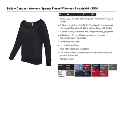 Anchor Monogram  Sweatshirt. Bella + Canvas - Women's Sponge Fleece Wideneck Sweatshirt - SS: 7501 - Whynotstopnshop.com