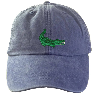 Alligator Hat - Embroidered. Gator Lover Hat. Embroidered Hat. Cool Mesh Lining & Adjustable Leather Strap. 33 Colors Avail. HER-LP101 - Whynotstopnshop.com
