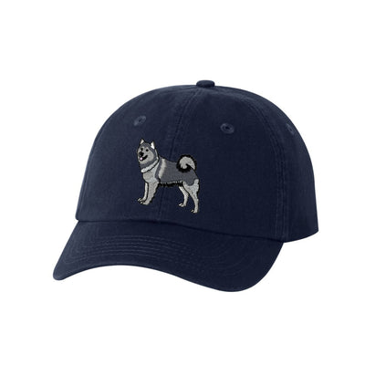 Alaskan Malamute Dog Breed  Embroidered Hat Unisex. Dog Embroidered Hat. Baseball Cap. Adjustable With Tri-Glide Buckle. 36 Colors. VC300A - Whynotstopnshop.com