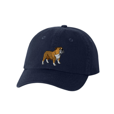 Bulldog Dog Breed  Embroidered Hat Unisex  Bulldog Embroidered Hat Baseball Cap.  Bulldog Adjustable With Tri-Glide Buckle. 36 Colors VC300A - Whynotstopnshop.com