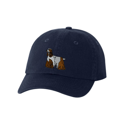 Cocker Spaniel Breed  Embroidered Hat Unisex  Embroidered Hat Baseball Cap.  Adjustable With Tri-Glide Buckle. 36 Colors. VC300A - Whynotstopnshop.com