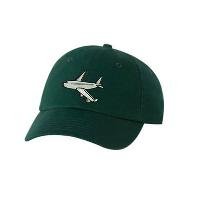 Airplane Embroidered Hat Unisex  Flying Airplane Embroidered Hat Baseball Cap.  Adjustable With Tri-Glide Buckle. 36 Colors VC300A - Whynotstopnshop.com