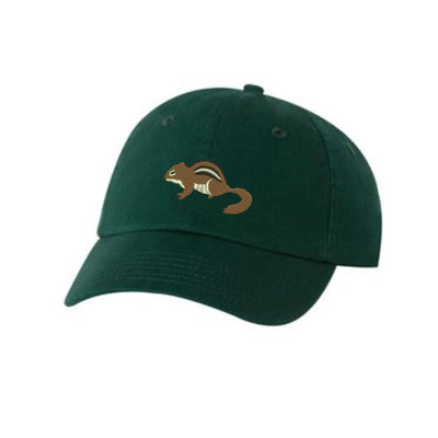 Chipmunk Embroidered Hat Unisex. Chipmunk Embroidered Hat Baseball Cap.  Adjustable With Tri-Glide Buckle. 36 Colors VC300A - Whynotstopnshop.com