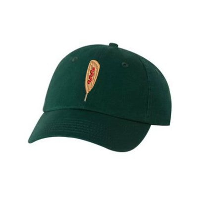 CornDog Embroidered Hat Unisex. Food Lover Corndog Embroidered Hat Baseball Cap.  Adjustable With Tri-Glide Buckle. 36 Colors VC300A - Whynotstopnshop.com