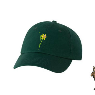 Daffodil Flower Embroidered Hat Unisex. Flower Embroidered Hat Baseball Cap.  Adjustable With Tri-Glide Buckle. 36 Colors VC300A - Whynotstopnshop.com