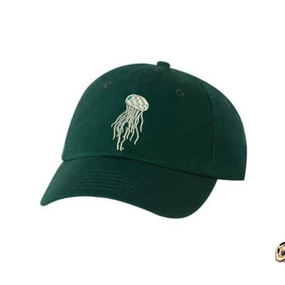 Jellyfish Embroidered Hat Unisex. Embroidered Hat Baseball Cap.  Adjustable With Tri-Glide Buckle. 36 Colors VC300A - Whynotstopnshop.com