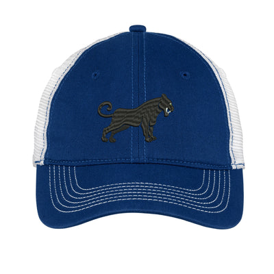 Black Panther  Embroidered Mesh Back Hat.  Mesh Back  Embroidered Hat .  Embroidered Baseball Hat  Trucker Hat. DT607 - Whynotstopnshop.com