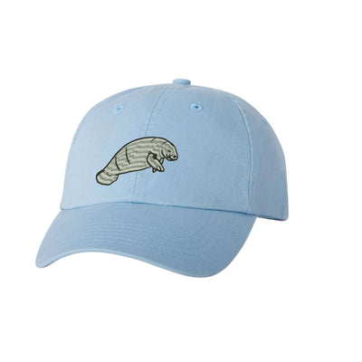 Dugong Embroidered Hat Unisex gator Embroidered Hat Baseball Cap.  Adjustable With Tri-Glide Buckle. 36 Colors VC300A - Whynotstopnshop.com