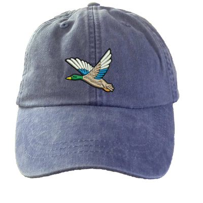 Mallard Duck Embroidered  Baseball Hat. Cool Mesh Lining & Adjustable Strap. 33 Colors Avail. HER-LP101 - Whynotstopnshop.com