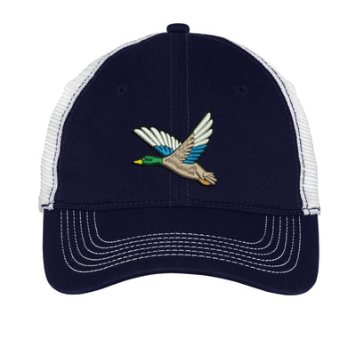Mallard Duck Embroidered Mesh Back Hat.  Mesh Back  Embroidered Hat .  Embroidered Baseball Hat  Trucker Hat. DT607 - Whynotstopnshop.com