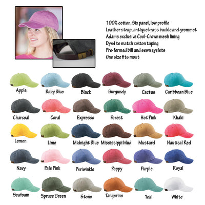 Four leaf clover Hat.  Baseball Hat. Cool Mesh Lining & Adjustable Strap. 33 Colors Avail. HER-LP101 - Whynotstopnshop.com