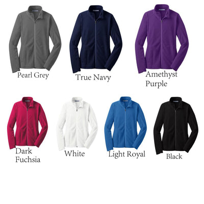 Heart Stethoscope Nurse Full Zip Micro-Fleece Jacket.Monogrammed Jacket XS-4X.  L223 - Whynotstopnshop.com