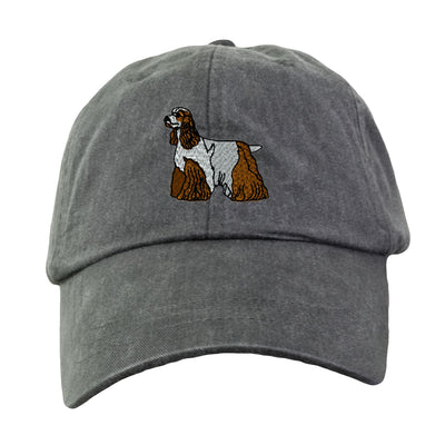 Cocker Spaniel Hat - Embroidered. Dog Lover Hat. Embroidered Hat. Cool Mesh Lining & Adjustable Leather Strap. 33 Colors Avail. HER-LP101 - Whynotstopnshop.com