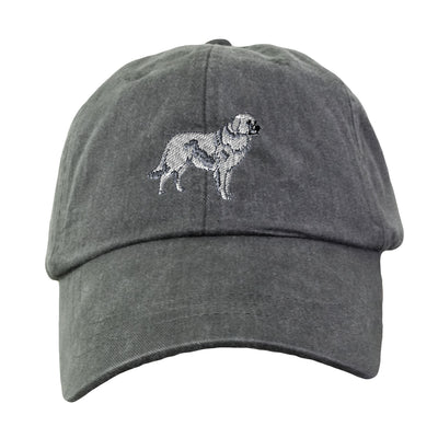 Great Pyrenees Hat - Embroidered. Dog Lover Hat. Embroidered Hat. Cool Mesh Lining & Adjustable Leather Strap. 33 Colors Avail. HER-LP101 - Whynotstopnshop.com