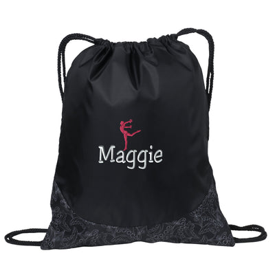 Gymnast / Dancer- Gym 2 Embroidered Drawstring Backpack. Liberty Bags - Denier Nylon Zippered Drawstring Backpack SS:8888 - Whynotstopnshop.com