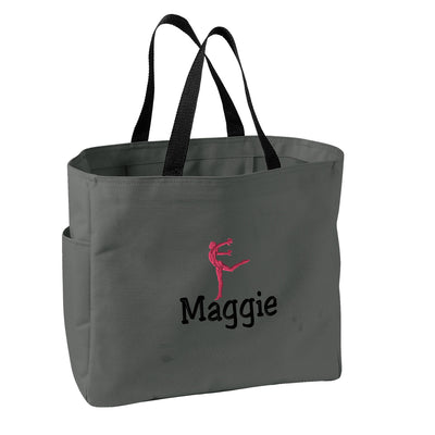 Gymnast/Dancer-Gym 2 Embroidered Tote Bag - Monogrammed.  Embroidered Gymnastics / Dance Tote. Sports Team Gift .  SM-B0750 - Whynotstopnshop.com
