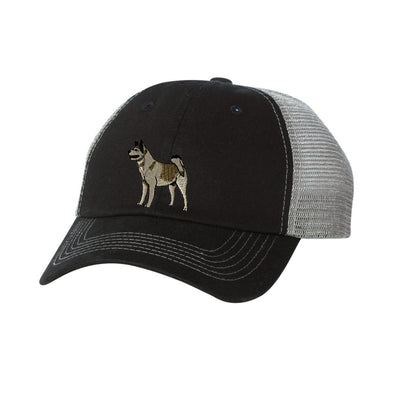 Akita Embroidered  Mesh Trucker Hat. Ladies Dog Hat. Embroidered Trucker Cap.  Baseball Hat. Adjustable Strap. SS-3100 - Whynotstopnshop.com