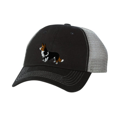 Corgi Embroidered  Mesh Trucker Hat. Ladies Dog Hat. Embroidered Trucker Cap.  Baseball Hat. Adjustable Strap. SS-3100 - Whynotstopnshop.com
