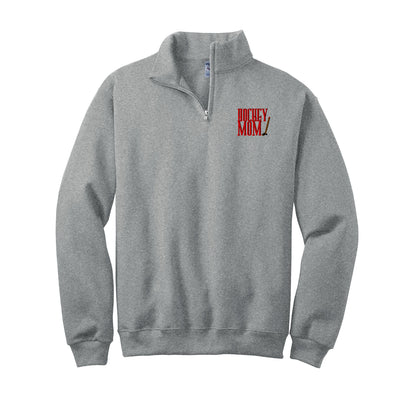 Hockey Mom 2 Embroidered  Quarter Zip Pullover. Monogram Quarter Zip Sweatshirt. Hockey Item. Sweatshirt. 995MR - Whynotstopnshop.com