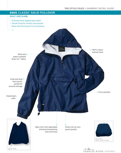 Autism Aunt Monogram Pullover Jacket. Monogram Pull Over. Classic Solid Pullover. Charles River Pullover. Personalized. CR: 9905 - Whynotstopnshop.com