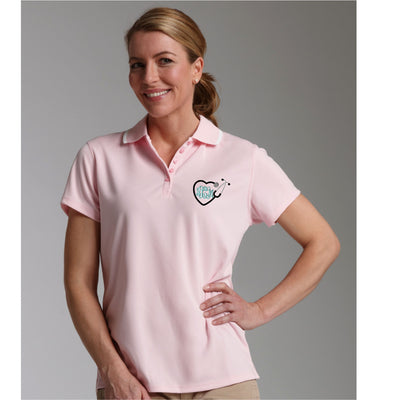 Monogram Heart Stethoscope Classic Polo. Monogrammed Polo. Charles River Women's Classic Wicking Polo. Personalized Embroidered . CR: 2811 - Whynotstopnshop.com