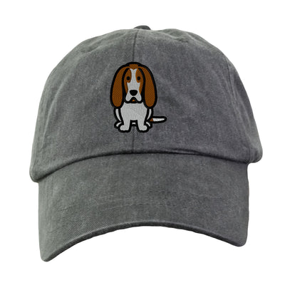 Basset Hound - Embroidered. Dog Lover Hat. Baseball Hat Cap. Embroidered Hat. Cool Mesh Lining & Adjustable Leather Strap. LP101 - Whynotstopnshop.com