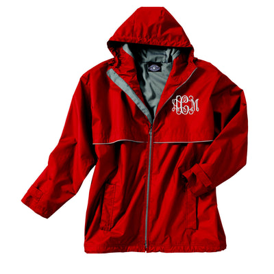 Charles River Hooded Full Zip Rain Jacket- Monogrammed.  CR - 9199 - Whynotstopnshop.com