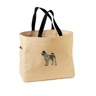 Akita Tote Bag. Embroidered Akita Tote. Cute Dog Pet Tote Bag. Akita Handbag. Akita Purse. SM-B0750 - Whynotstopnshop.com