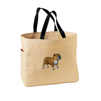 Bulldog Tote Bag. Embroidered Bulldog Tote. Cute Dog Pet Tote Bag. Bulldog Handbag. Bulldog Purse. SM-B0750 - Whynotstopnshop.com