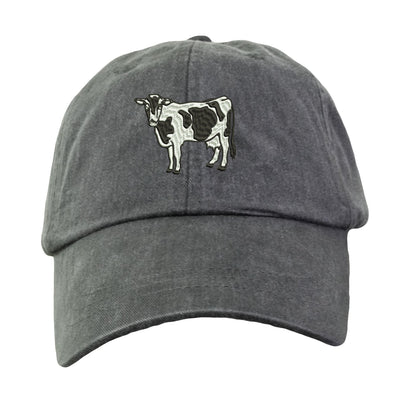 Holstein Cow Hat - Embroidered. Embroidered Holstein Cow Farm Hat. Adjustable Leather Strap. More Colors Avail. HER-LP101 - Whynotstopnshop.com
