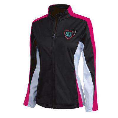 Monogram Heart Stethoscope Womens Sport Jacket.  Zip Up. Charles River Women's Energy Jacket. Personalized Team Jacket.  CR: 5494 - Whynotstopnshop.com