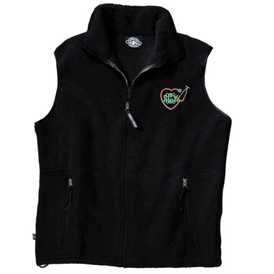 Monogram Heart Stethoscope Fleece Vest. Monogrammed Vest. Custom Vest. Charles River Ridgeline Fleece Vest. Personalized Vest. CR: 9503 - Whynotstopnshop.com