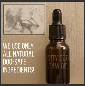 City Dog Paw Cleaning and Softening Oil Available in Regular, Sensitive, and Vegan 15ML